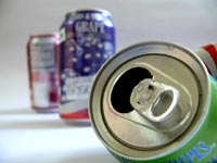 You wanna mess with me? - An image of empty soda cans