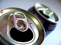 Mind if I fart? - An image of empty soda cans