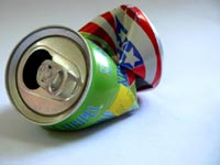 Down but not out - An image of empty soda cans