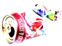 Beyond recycling - An image of empty and crushed soda cans