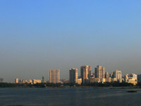 Powai sky line - An image of buildings in Hiranandani Gardenst taken from Powai Lake