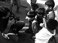 The future is bright - An image of Ashish Sidhapara taking picture of kids at Walkeshwar