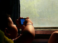Hi! I'm back - Manu taking pictures on his way to Delhi from Chandigarh by Picturejockey